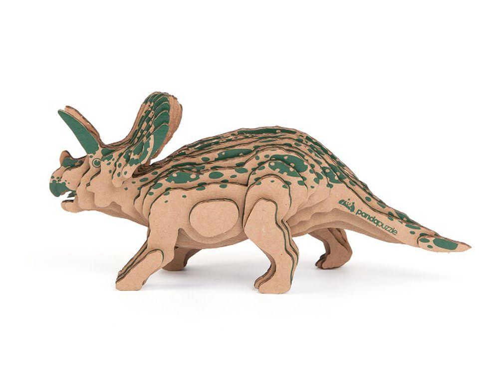 3D-пазл PandaPuzzle «Торозавр»PandaPuzzle<br>3D-пазл PandaPuzzle ? головоломка от отечественного торгового бренда, который специализируется на выпуске трехмерных пазлов разной тематики. Все пазлы от PandaPuzzle выполнены из экологически безопасных материалов, имеют продуманный и реалистичный дизайн ...<br><br>Артикул: АВ 1106<br>Размер: 20x10x6 см<br>Материал: Гофрокартон<br>Вес упаковки: 97 г<br>Вес модели: 32 г<br>Размер упаковки: 26x11x5 см<br>Возраст: от 5 лет