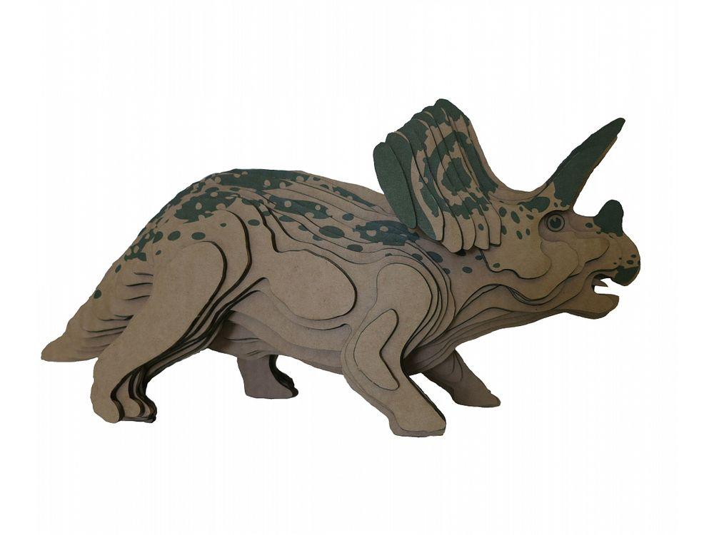 3D-пазл PandaPuzzle «Торозавр»PandaPuzzle<br>3D-пазл PandaPuzzle ? головоломка от отечественного торгового бренда, который специализируется на выпуске трехмерных пазлов разной тематики. Все пазлы от PandaPuzzle выполнены из экологически безопасных материалов, имеют продуманный и реалистичный дизайн ...<br><br>Артикул: АВ 1206<br>Размер: 39,5x18x13 см<br>Материал: Гофрокартон<br>Вес упаковки: 502 г<br>Вес модели: 252 г<br>Размер упаковки: 43,5x26,5x6,7 см<br>Возраст: от 5 лет