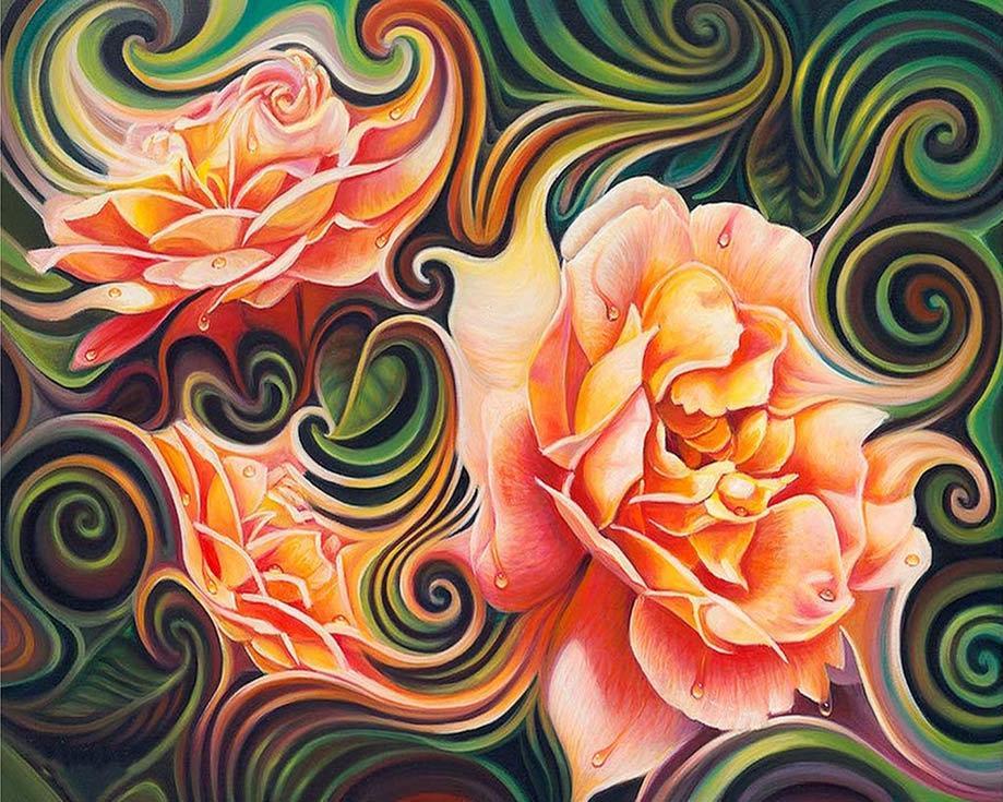 Алмазная вышивка «Розы в абстракции» Рикардо Чавеса МендесаАлмазная Живопись<br>Картины стразами бренда «Алмазная Живопись» это:<br><br>четко пропечатанная символьная схема;<br>качественный клеевой слой по всей поверхности холста;<br>большая палитра акриловых страз с 9 гранями, которые, отражая свет, создают эффект объемного изображения.<br>...<br><br>Артикул: АЖ-1393<br>Основа: Холст без подрамника<br>Сложность: сложные<br>Размер: 40x50 см<br>Выкладка: Полная<br>Количество цветов: 35<br>Тип страз: Квадратные