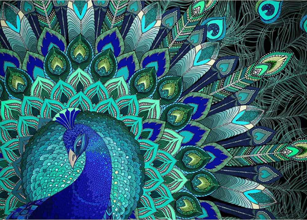 Алмазная вышивка «Узоры павлина»Алмазная Живопись<br>Картины стразами бренда «Алмазная Живопись» это:<br><br>четко пропечатанная символьная схема;<br>качественный клеевой слой по всей поверхности холста;<br>большая палитра акриловых страз с 9 гранями, которые, отражая свет, создают эффект объемного изображения.<br>...<br><br>Артикул: АЖ-1396<br>Основа: Холст без подрамника<br>Сложность: сложные<br>Размер: 40x50 см<br>Выкладка: Полная<br>Количество цветов: 13<br>Тип страз: Квадратные