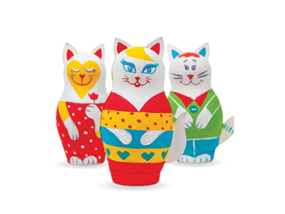 Набор для творчества «Кошечки»Фигурки из папье-маше<br><br><br>Артикул: В.0.1.34.1<br>Основа: Заготовки из прессованной бумажной массы<br>Размер: 19,3x19,3x5 см<br>Возраст: от 5 лет
