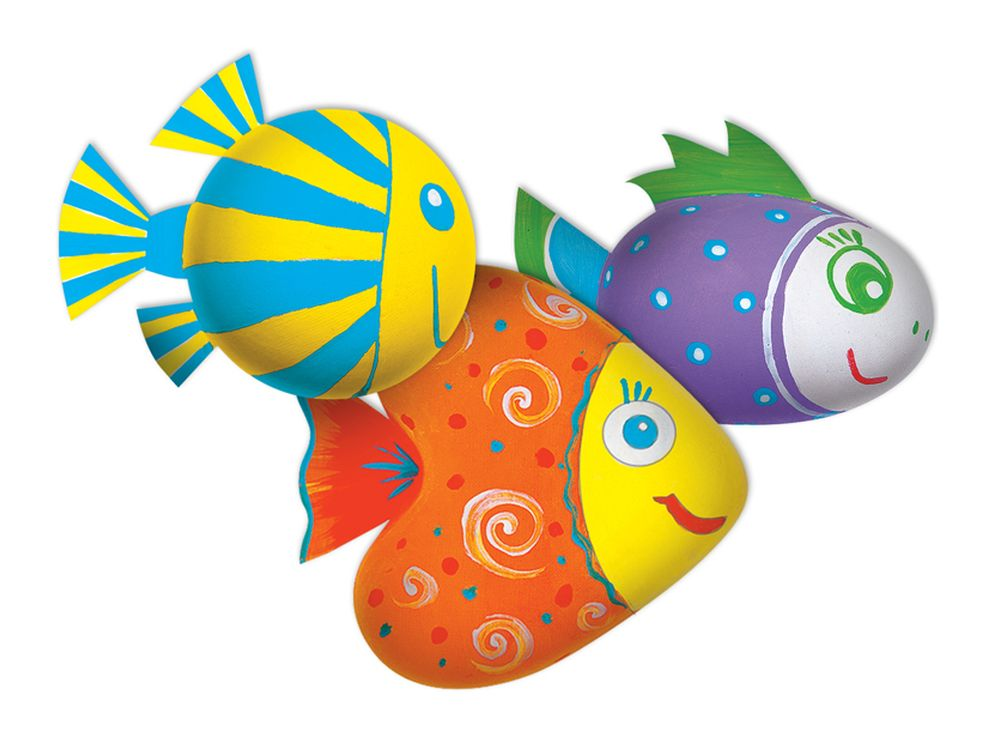 Набор для творчества «Рыбки» (магнит)Фигурки из папье-маше<br><br><br>Артикул: В01665<br>Основа: Заготовки из прессованной бумажной массы<br>Размер: 15,3x15,3x4,5 см<br>Возраст: от 5 лет