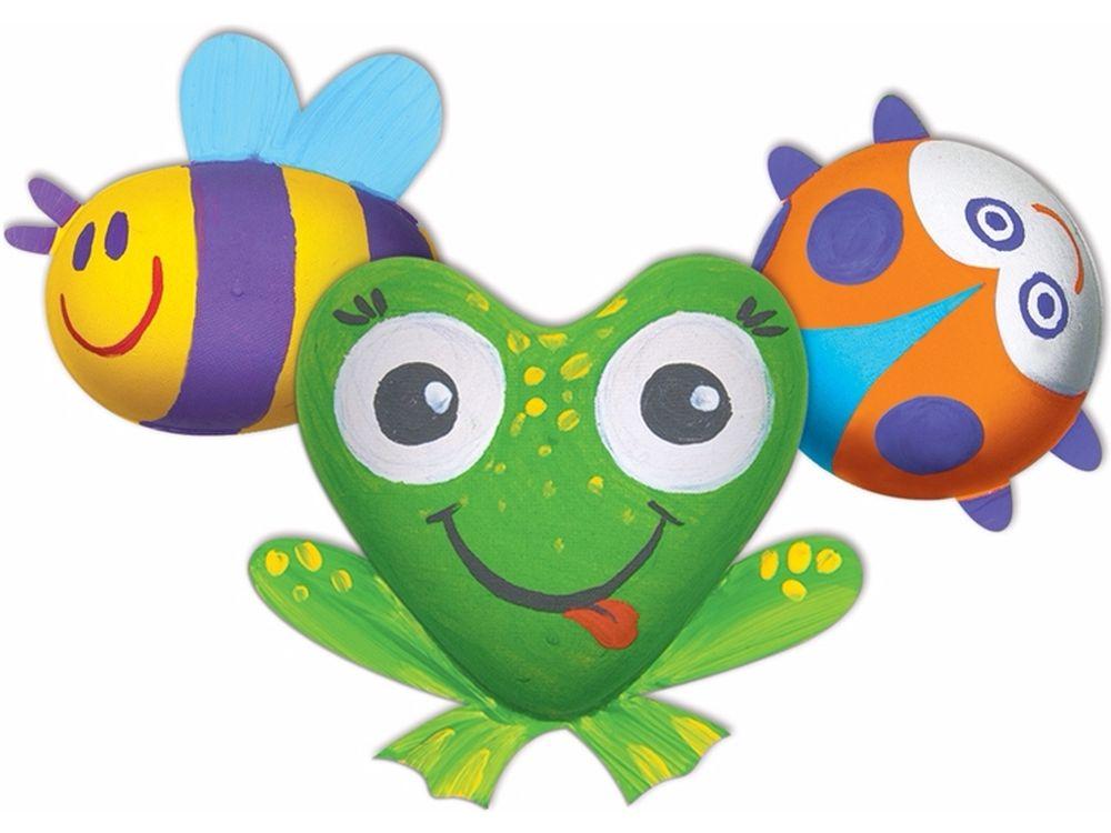 Набор для творчества «Забавные Букашки» (магнит)Фигурки из папье-маше<br><br><br>Артикул: В01685<br>Основа: Заготовки из прессованной бумажной массы<br>Размер: 15,3x15,3x4,5 см