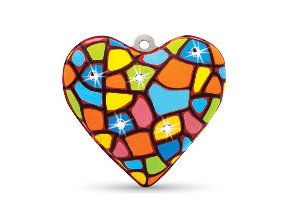 Набор для творчества «Сердце» (со стразами)Фигурки из папье-маше<br><br><br>Артикул: В0253<br>Основа: Заготовки из прессованной бумажной массы<br>Размер: 10,5x10,5x6 см<br>Возраст: от 5 лет