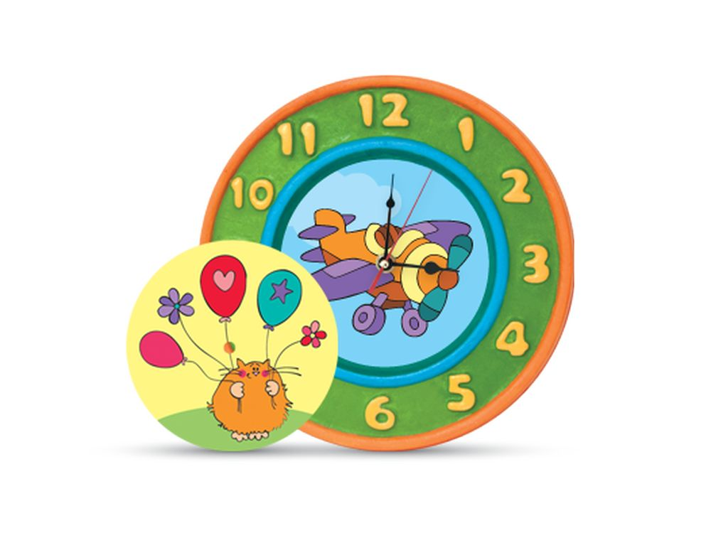 Набор для творчества «Часы»Фигурки из папье-маше<br><br><br>Артикул: В02643<br>Основа: Заготовки из прессованной бумажной массы<br>Размер: 26,5x26,5x5 см<br>Возраст: от 5 лет