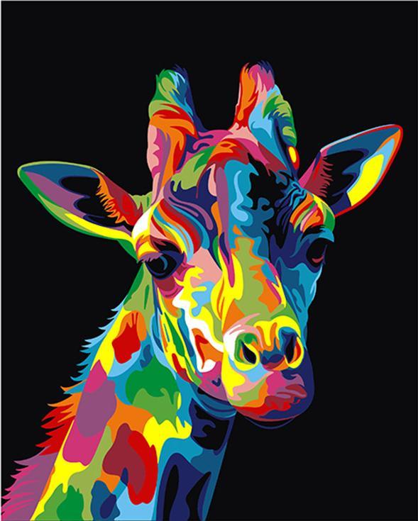 «Радужный жираф» Ваю РомдониАртвентура<br><br><br>Артикул: 02ART50400123<br>Основа: Холст<br>Сложность: средние<br>Размер: 40x50 см<br>Количество цветов: 16<br>Техника рисования: Без смешивания красок