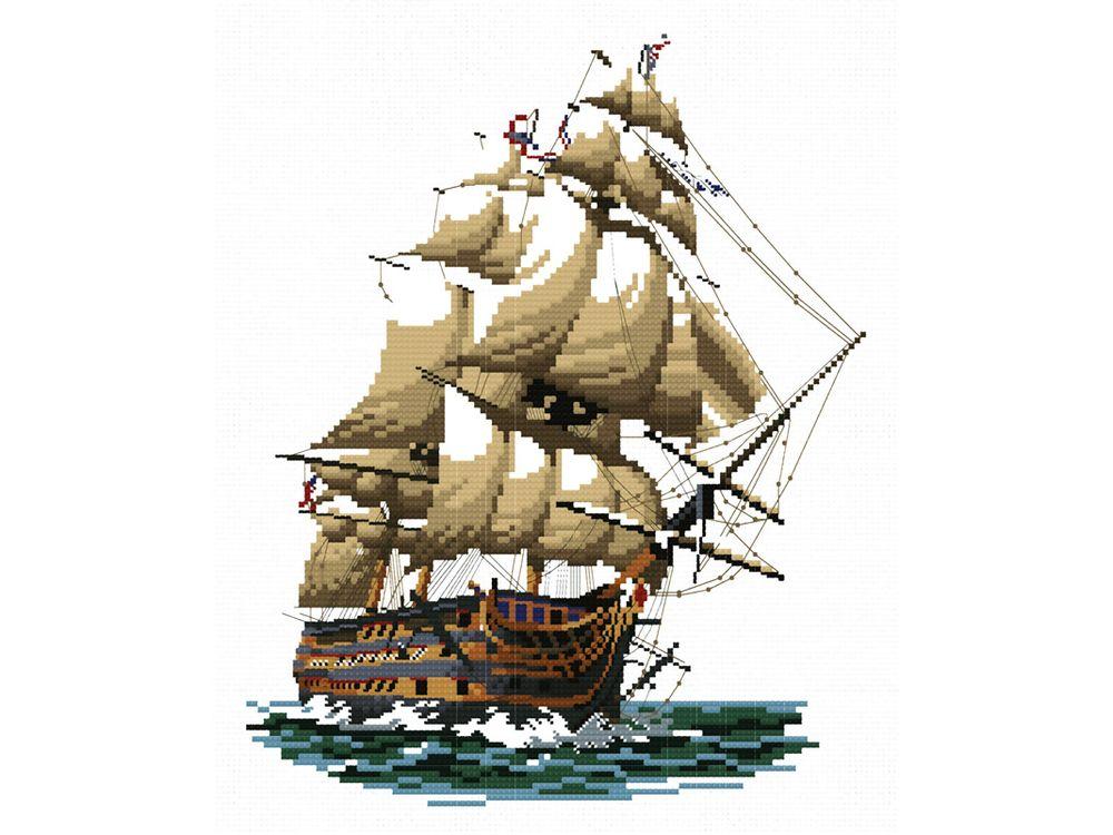 Набор для вышивания «Корабль «Виктория»Белоснежка<br><br><br>Артикул: 1001-14<br>Основа: канва Aida 14<br>Размер: 29x34 см<br>Техника вышивки: счетный крест<br>Тип схемы вышивки: Цветная схема<br>Цвет канвы: Белый<br>Рисунок на канве: не нанесён<br>Техника: Вышивка крестом
