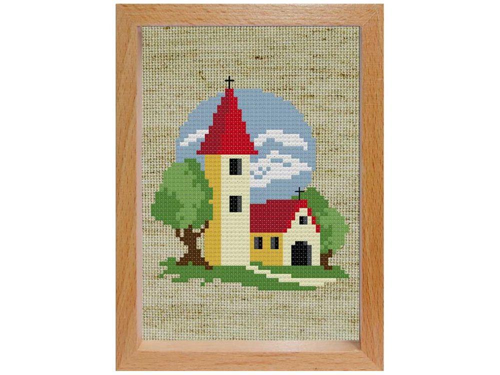 Набор для вышивания «Маленькая церковь»Белоснежка<br><br><br>Артикул: 106-EF<br>Основа: льняная<br>Размер: 15x11<br>Техника вышивки: двухсторонний счетный крест<br>Тип схемы вышивки: Цветная схема вышивки<br>Количество цветов: 11