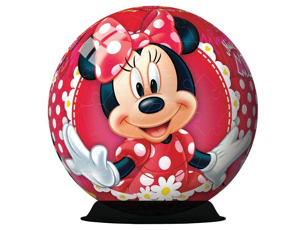 Пазлы «Минни Маус 3D»Ravensburger<br>Пазл - игра-головоломка, мозаика, состоящая из множества фрагментов, различающихся по форме.<br> По мнению психологов, игра в пазлы способствует развитию логического мышления, внимания, воображения и памяти. Пазлы хороши для всех возрастов - и ребенка-дошко...<br><br>Артикул: 12139<br>Размер: диаметр 13 см