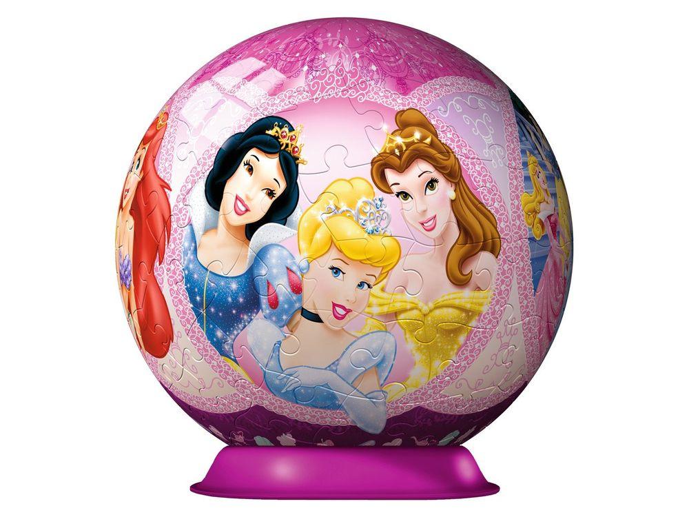 Пазлы «Принцессы 3D»Ravensburger<br>Пазл - игра-головоломка, мозаика, состоящая из множества фрагментов, различающихся по форме.<br> По мнению психологов, игра в пазлы способствует развитию логического мышления, внимания, воображения и памяти. Пазлы хороши для всех возрастов - и ребенка-дошко...<br><br>Артикул: 12208<br>Размер: диаметр 15 см