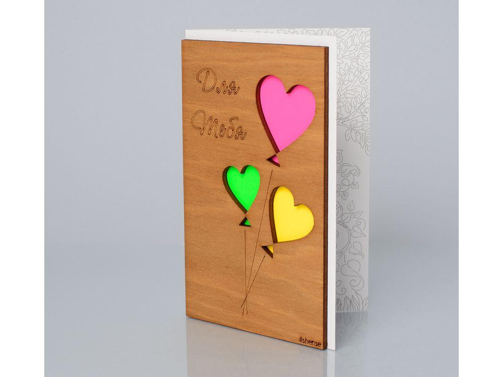 Открытка «Для тебя»Деревянные открытки<br>Деревянные открытки и денежные конверты - прекрасная возможность сделать яркий подарок для тех, кто ценит оригинальность, однако не забывает о традициях. И креативность такого презента заключена не только в необычной деревянной первой странице, ведь в...<br><br>Артикул: 123<br>Размер: 160 х 106 мм<br>Материал: Дерево, бумага