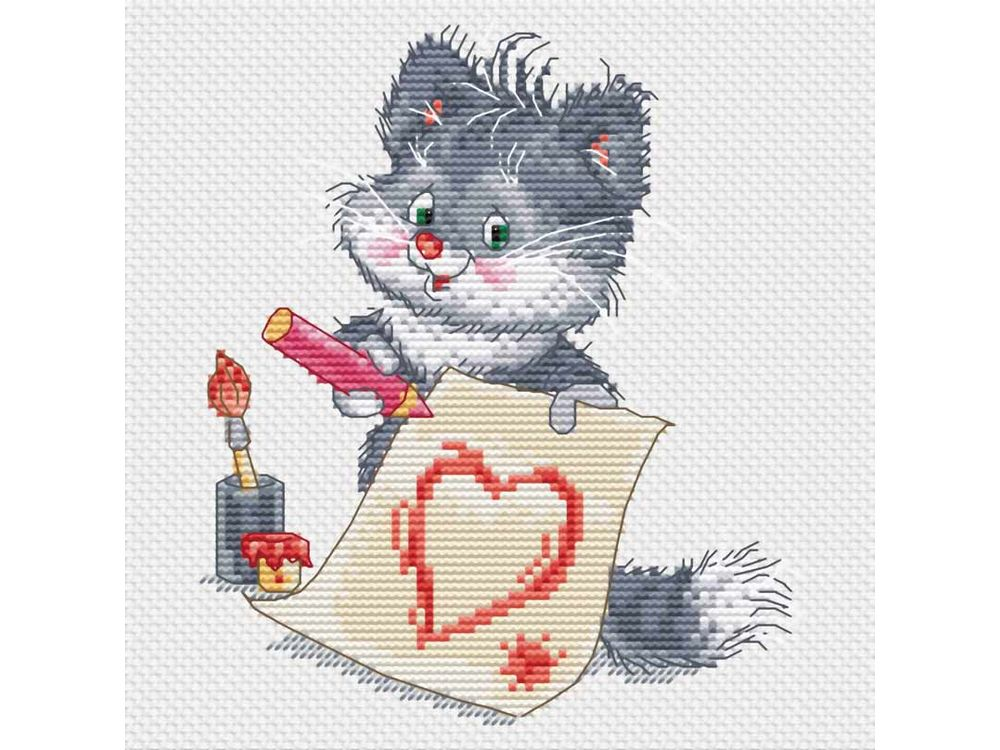 Набор для вышивания «Котёнок-художник» Александра ПлешкоБелоснежка<br><br><br>Артикул: 148-14<br>Основа: канва Aida 14<br>Размер: 20x21<br>Техника вышивки: счетный крест<br>Тип схемы вышивки: Цветная схема<br>Количество крестиков: 72x84<br>Цвет канвы: Белый<br>Размер вышитой работы: 13x15<br>Количество цветов: 18<br>Рисунок на канве: не нанесён<br>Техника: Вышивка крестом