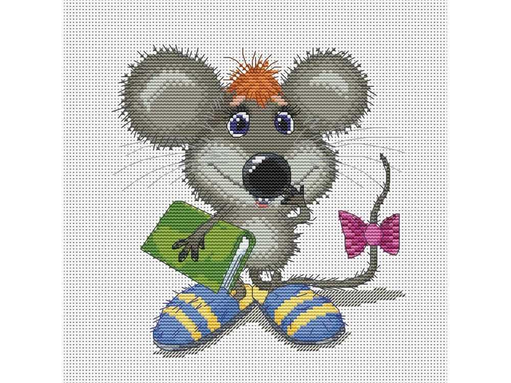 Набор для вышивания «Учёный мышонок» Льва БартеневаБелоснежка<br><br><br>Артикул: 163-14<br>Основа: канва Aida 14<br>Размер: 23x24 см<br>Техника вышивки: счетный крест<br>Тип схемы вышивки: Цветная схема<br>Количество крестиков: 92x98<br>Цвет канвы: Белый<br>Размер вышитой работы: 17x18<br>Количество цветов: 26<br>Рисунок на канве: не нанесён<br>Техника: Вышивка крестом