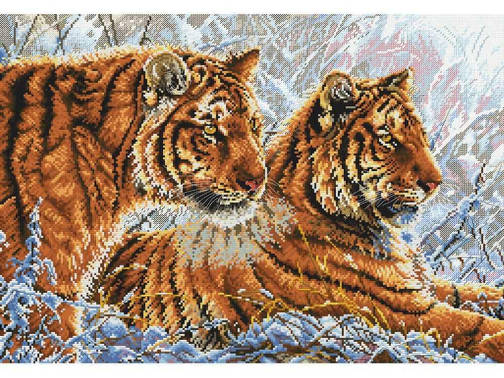 Набор для вышивания «Амурские тигры»Белоснежка<br><br><br>Артикул: 2333-14<br>Основа: канва Aida 14<br>Размер: 57x42 см<br>Техника вышивки: счетный крест<br>Тип схемы вышивки: Цветная схема<br>Количество крестиков: 257x178<br>Цвет канвы: Белый<br>Размер вышитой работы: 32,5x47<br>Количество цветов: 35<br>Рисунок на канве: не нанесён<br>Техника: Вышивка крестом