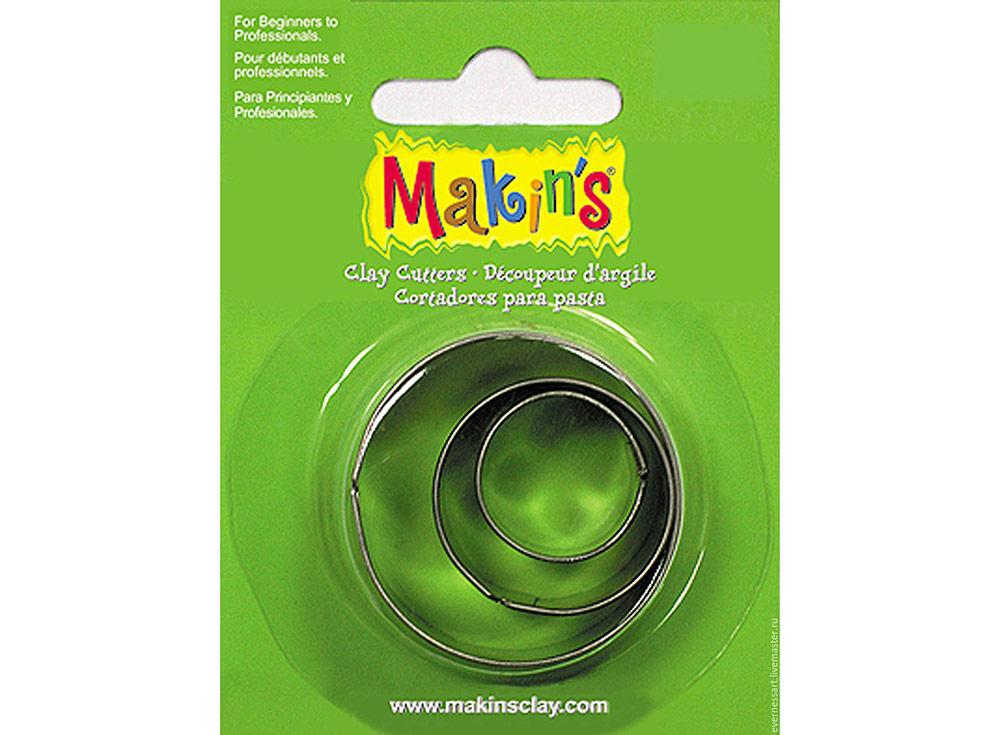 Набор каттеров Makin's «Круг»Инструменты для лепки<br><br><br>Артикул: 36001<br>Размер: 20 мм, 30 мм, 40 мм