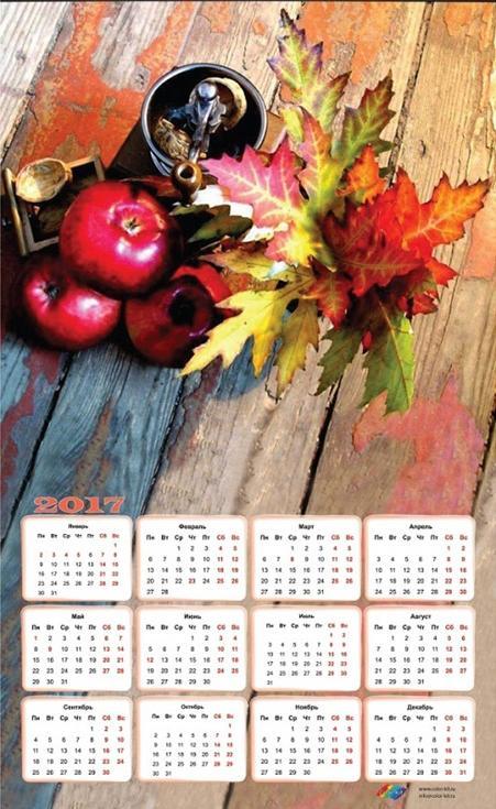 Картина-календарь стразами «Осенний натюрморт»Алмазная вышивка Color Kit (Колор Кит)<br><br><br>Артикул: 404005K<br>Основа: Холст без подрамника<br>Сложность: средние<br>Размер: 40x65 см<br>Выкладка: Частичная<br>Количество цветов: 30<br>Тип страз: Круглые непрозрачные (акриловые)