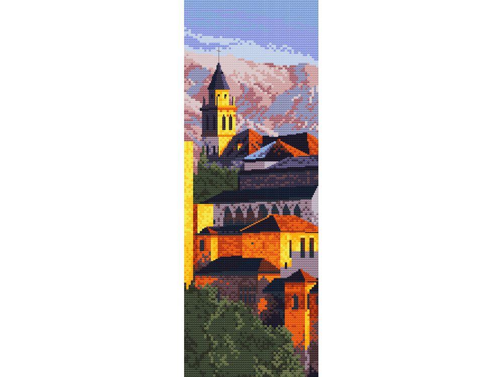 Набор для вышивания «Альгамбра Испания»Белоснежка<br><br><br>Артикул: 4063-14<br>Основа: канва Aida 14<br>Размер: 21x41 см<br>Техника вышивки: счетный крест<br>Тип схемы вышивки: Цветная схема<br>Цвет канвы: Белый<br>Количество цветов: 19<br>Рисунок на канве: не нанесён<br>Техника: Вышивка крестом