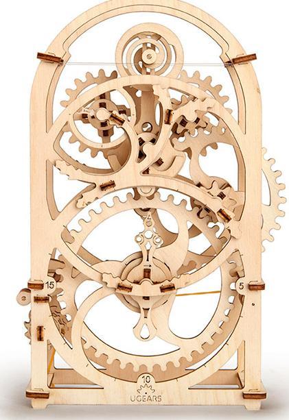 3D-пазл Ugears «Таймер-секундомер»Ugears<br>Новинка! 3D-пазл Ugears «Таймер-секундомер» -  изящные механические часы из дерева. Повседневные предметы могут быть эксклюзивными и яркими. Ажурная арка хронометра от Ugears стилизована под старинные часы, которые выполнены в лучших традициях ...<br><br>Артикул: 70004<br>Размер: 17x18x26 см<br>Расчетное время сборки: 3-4 часа<br>Материал: Дерево<br>Размер упаковки: 37x17x3 см<br>Возраст: от 14 лет