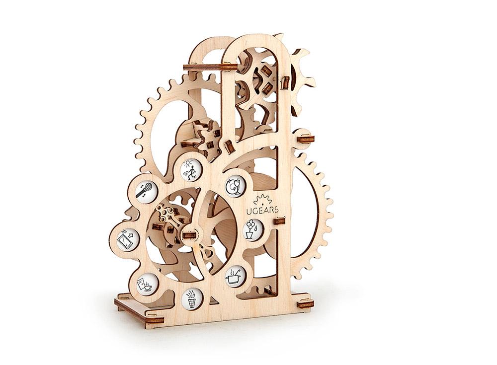 3D-пазл Ugears «Силомер»Ugears<br>Силомер-рулетка – необычный аксессуар для интерьера! Это не все, что удалось воплотить в жизнь инженерам из компании Ugears в данной модели. С помощью указателя и циферблата с пиктограммами, вы с легкостью проверите мощь своих легких.<br> <br>Продуманная конс...<br><br>Артикул: 70005<br>Размер: 15x7x17 см<br>Расчетное время сборки: 1-2 часа<br>Материал: Дерево<br>Размер упаковки: 37x14x3 см<br>Возраст: от 14 лет