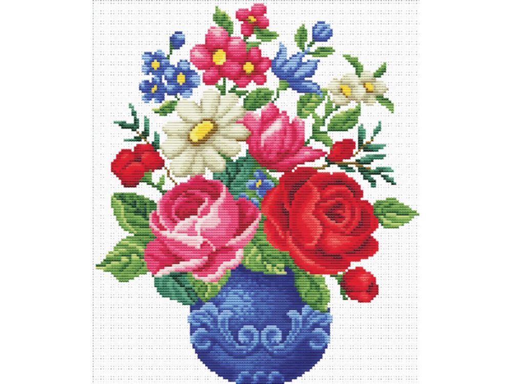 Набор для вышивания «Любимый букет»Белоснежка<br><br><br>Артикул: 7510-PK<br>Основа: канва Aida 11<br>Размер: 38x43 см<br>Техника вышивки: несчетный крест<br>Тип схемы вышивки: Цветная схема<br>Количество крестиков: 152x130<br>Количество цветов: 31<br>Рисунок на канве: нанесён водорастворимый рисунок<br>Техника: Вышивка крестом