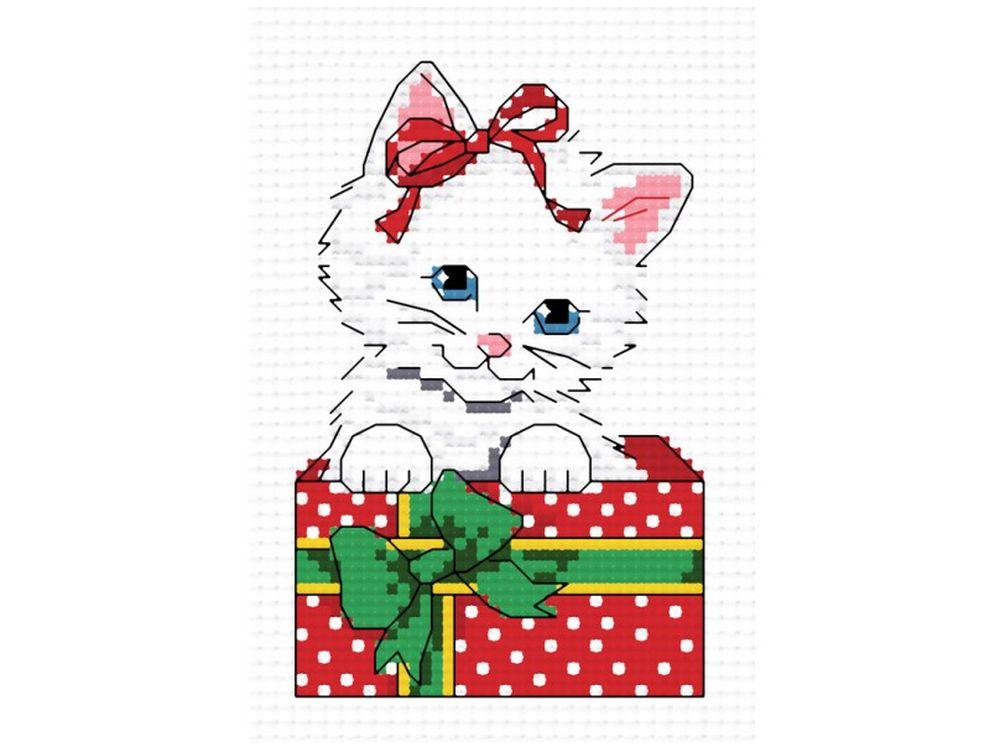 Набор для вышивания «Пушистый подарок»Белоснежка<br><br><br>Артикул: 850-14<br>Основа: канва Aida 14<br>Размер: 27x32 см<br>Техника вышивки: счетный крест<br>Тип схемы вышивки: Цветная схема<br>Количество крестиков: 36x56<br>Цвет канвы: Белый<br>Размер вышитой работы: 7x10<br>Количество цветов: 12<br>Рисунок на канве: не нанесён<br>Техника: Вышивка крестом