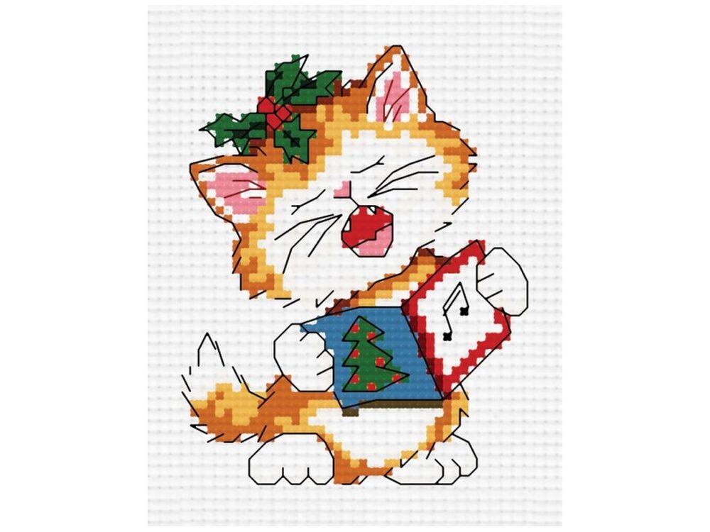 Набор для вышивания «Поющий котенок»Белоснежка<br><br><br>Артикул: 851-14<br>Основа: канва Aida 14<br>Размер: 27x33 см<br>Техника вышивки: счетный крест<br>Тип схемы вышивки: Цветная схема<br>Количество крестиков: 41x42<br>Цвет канвы: Белый<br>Размер вышитой работы: 7,5x7,5<br>Количество цветов: 13<br>Рисунок на канве: не нанесён<br>Техника: Вышивка крестом
