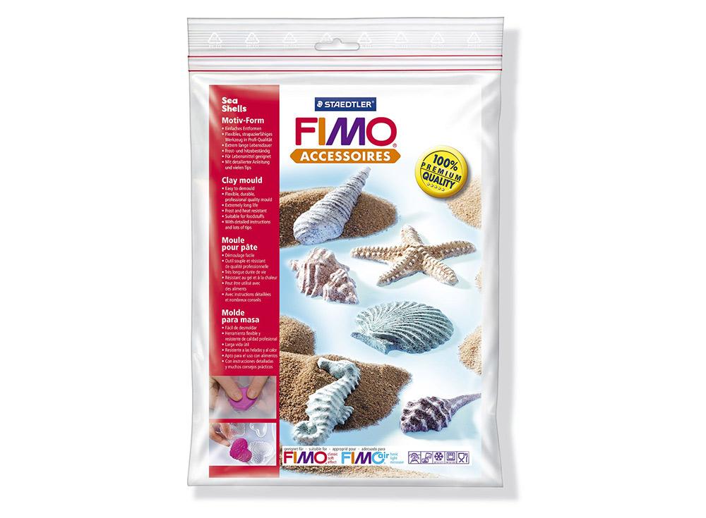 Формы FIMO «Морские ракушки»Инструменты для лепки<br><br><br>Артикул: 8742 08<br>Размер: 16x24 см<br>Количество: 6 форм