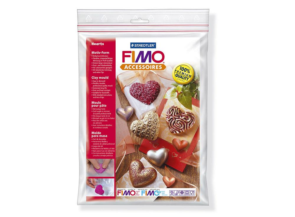 Формы FIMO «Сердца»Инструменты для лепки<br><br><br>Артикул: 8742 26<br>Размер: 16x24 см<br>Количество: 8 форм