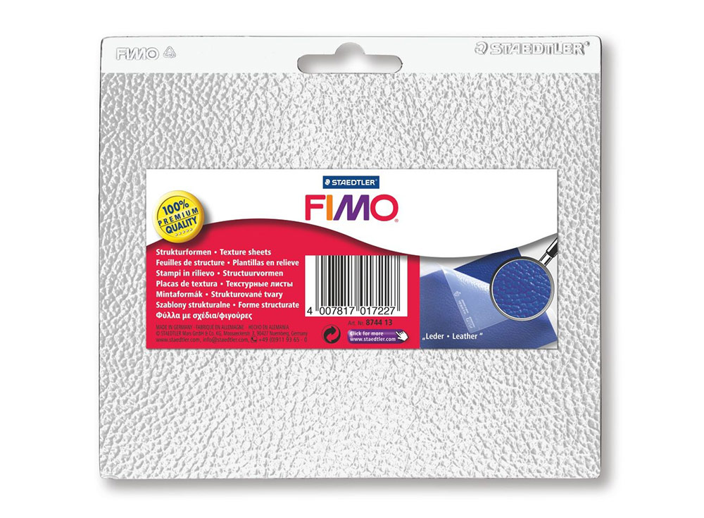 Текстурный лист FIMO «Кожа»Инструменты для лепки<br><br><br>Артикул: 8744 13<br>Размер: 15x16,8 см