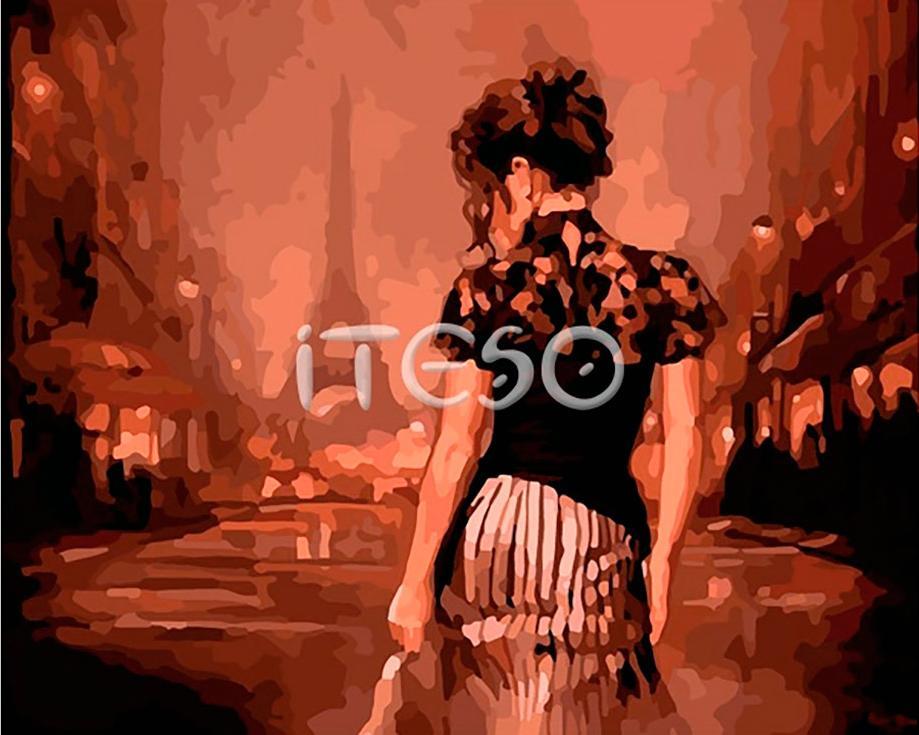 «Вечер в Париже» Марка СпейнаIteso<br><br><br>Артикул: A443i<br>Основа: Холст<br>Сложность: очень сложные<br>Размер: 40x50<br>Количество цветов: 30<br>Техника рисования: Без смешивания красок