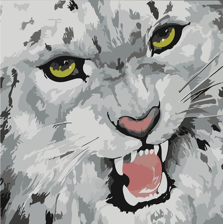 Картина по номерам «Барс» Марсии БолдуинРаскраски по номерам Color Kit<br><br><br>Артикул: CD022<br>Основа: Холст<br>Сложность: средние<br>Размер: 30x30 см<br>Количество цветов: 11<br>Техника рисования: Без смешивания красок