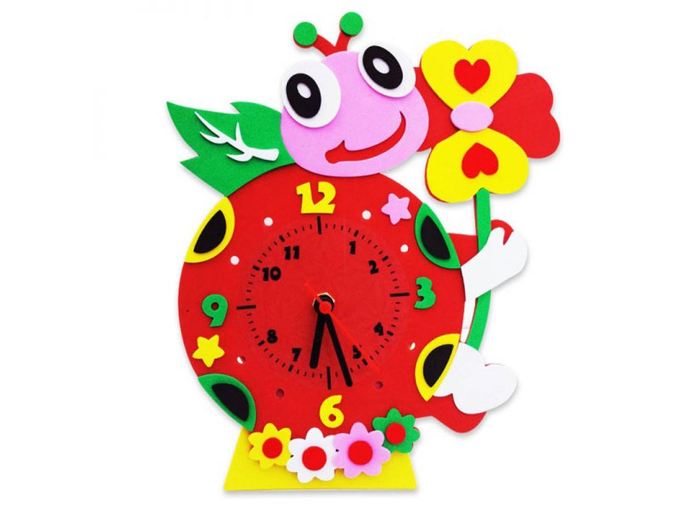 Набор для творчества «Божья коровка часы»Наборы из фоамирана<br><br><br>Артикул: CL003<br>Основа: Фоамиран<br>Возраст: от 3 лет