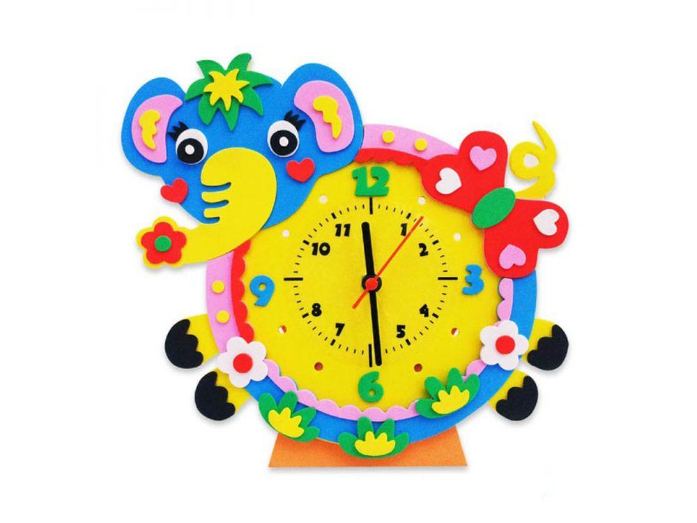 Набор для творчества «Слон часы»Наборы из фоамирана<br><br><br>Артикул: CL006<br>Основа: Фоамиран<br>Возраст: от 3 лет