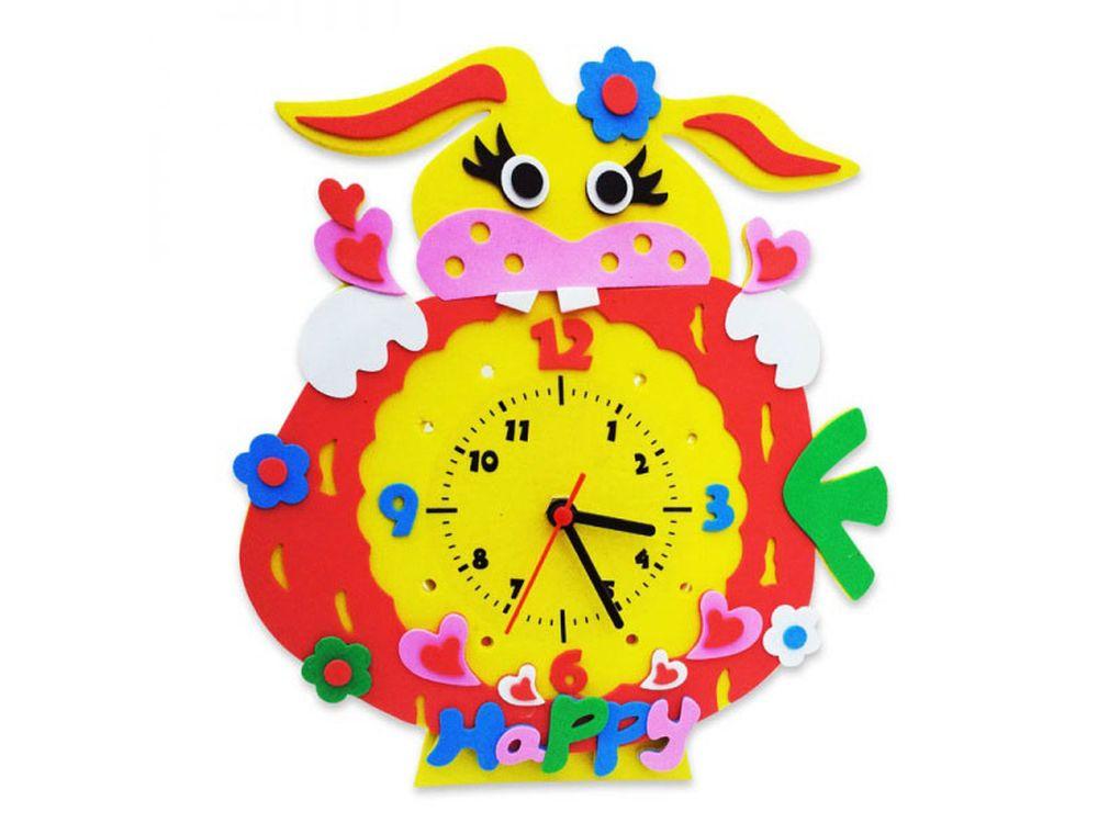 Набор для творчества «Зайка часы»Наборы из фоамирана<br><br><br>Артикул: CL007<br>Основа: Фоамиран<br>Возраст: от 3 лет