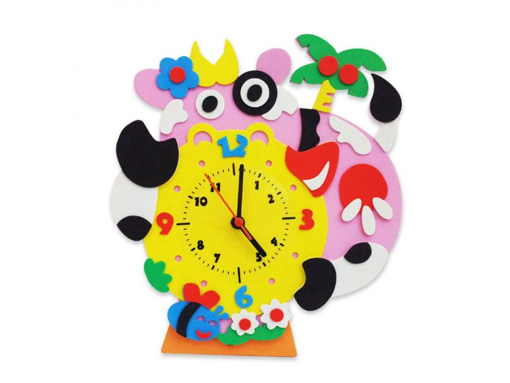 Набор для творчества «Буренка часы»