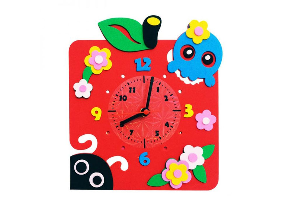Набор для творчества «Яблоко часы»Наборы из фоамирана<br><br><br>Артикул: CL012<br>Основа: Фоамиран<br>Возраст: от 3 лет