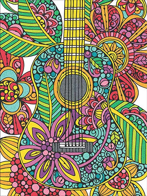 Картина по номерам «Цветущая гитара»Раскраски по номерам<br>Картина по номерам Цветущая гитара раскрашивается цветными карандашами!<br> <br> Dimensions - один из самых известных брендов товаров для хобби. Картины по номерам от этого производителя безупречны по качеству всех составляющих - от картонной основы до кара...<br>
