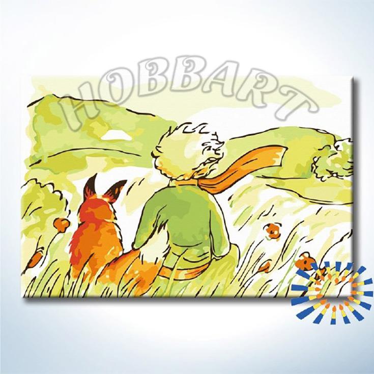 Картина по номерам «Маленький принц. Зорко одно лишь сердце»Hobbart<br><br><br>Артикул: DZ2030003<br>Основа: Холст<br>Сложность: средние<br>Размер: 20x30 см<br>Количество цветов: 15<br>Техника рисования: Без смешивания красок