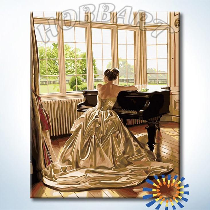 «За роялем» Роба ХефферанаHobbart<br><br><br>Артикул: DZ4050038<br>Основа: Холст<br>Сложность: сложные<br>Размер: 40x50 см<br>Количество цветов: 33<br>Техника рисования: Без смешивания красок