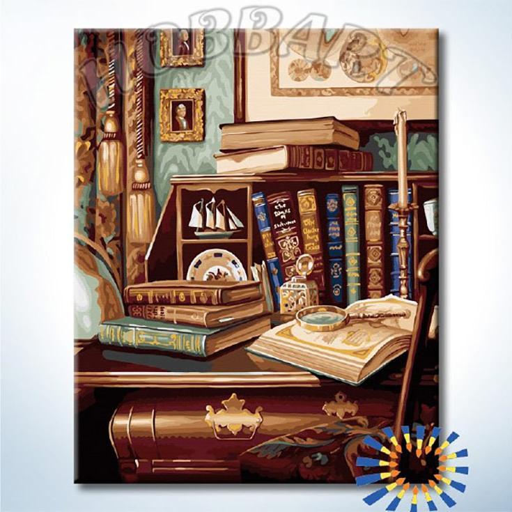Картина по номерам «Старинный кабинет»Hobbart<br><br><br>Артикул: DZ4050041<br>Основа: Холст<br>Сложность: сложные<br>Размер: 40x50 см<br>Количество цветов: 28<br>Техника рисования: Без смешивания красок