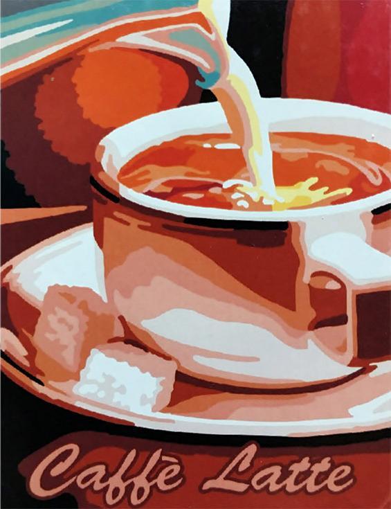 «Кофе латте»Paintboy (Premium)<br><br><br>Артикул: EX5400<br>Основа: Холст<br>Сложность: легкие<br>Размер: 30x40<br>Количество цветов: 18<br>Техника рисования: Без смешивания красок