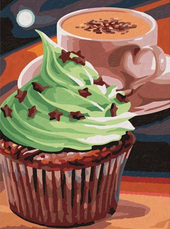 Картина по номерам «Вкусный кекс»Раскраски по номерам<br><br>