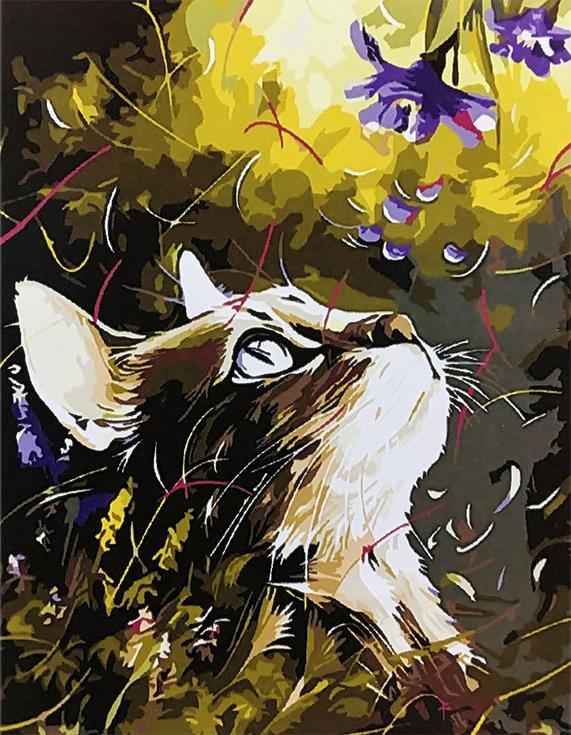 Картина по номерам «Кошка» Наушада ВахидаРаскраски по номерам Paintboy (Original)<br><br><br>Артикул: EX5445_R<br>Основа: Холст<br>Сложность: средние<br>Размер: 30x40 см<br>Количество цветов: 21<br>Техника рисования: Без смешивания красок