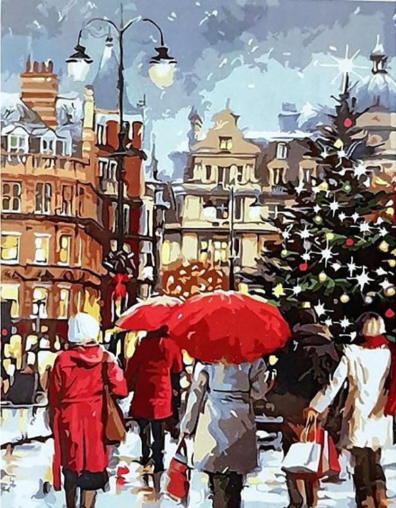 «Рождественские покупки» Ричарда МакнейлаРаскраски по номерам Paintboy (Original)<br><br><br>Артикул: GX3049_R<br>Основа: Холст<br>Сложность: средние<br>Размер: 40x50 см<br>Количество цветов: 21<br>Техника рисования: Без смешивания красок