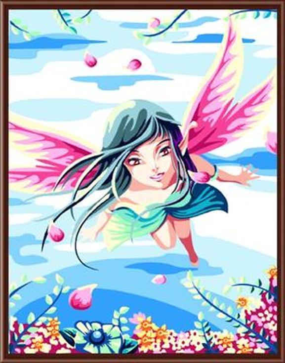 «Волшебная фея»Цветной (Standart)<br><br><br>Артикул: GX6116_Z<br>Основа: Холст<br>Сложность: сложные<br>Размер: 40x50 см<br>Количество цветов: 25<br>Техника рисования: Без смешивания красок
