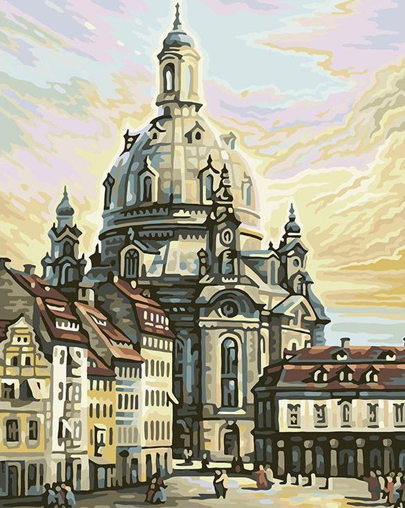 Картина по номерам «Дрезден»Цветной (Standart)<br><br><br>Артикул: GX6200_Z<br>Основа: Холст<br>Сложность: сложные<br>Размер: 40x50 см<br>Количество цветов: 25<br>Техника рисования: Без смешивания красок