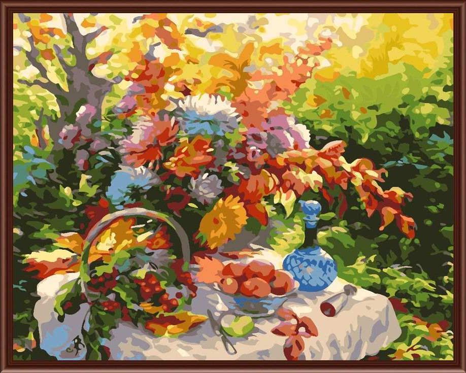 «Дары природы» Зинаиды ВедешинойЦветной (Standart)<br><br><br>Артикул: GX6296_Z<br>Основа: Холст<br>Сложность: сложные<br>Размер: 40x50<br>Количество цветов: 25<br>Техника рисования: Без смешивания красок