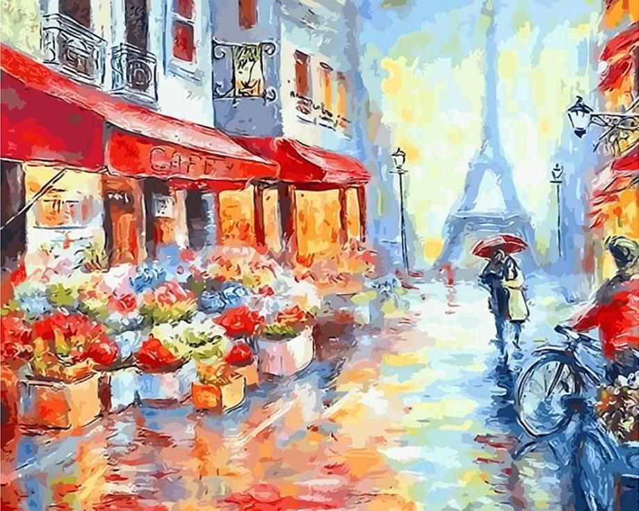 Картина по номерам «Вдвоем по Парижу»Цветной (Standart)<br><br><br>Артикул: GX7959_Z<br>Основа: Холст<br>Сложность: сложные<br>Размер: 40x50 см<br>Количество цветов: 25<br>Техника рисования: Без смешивания красок