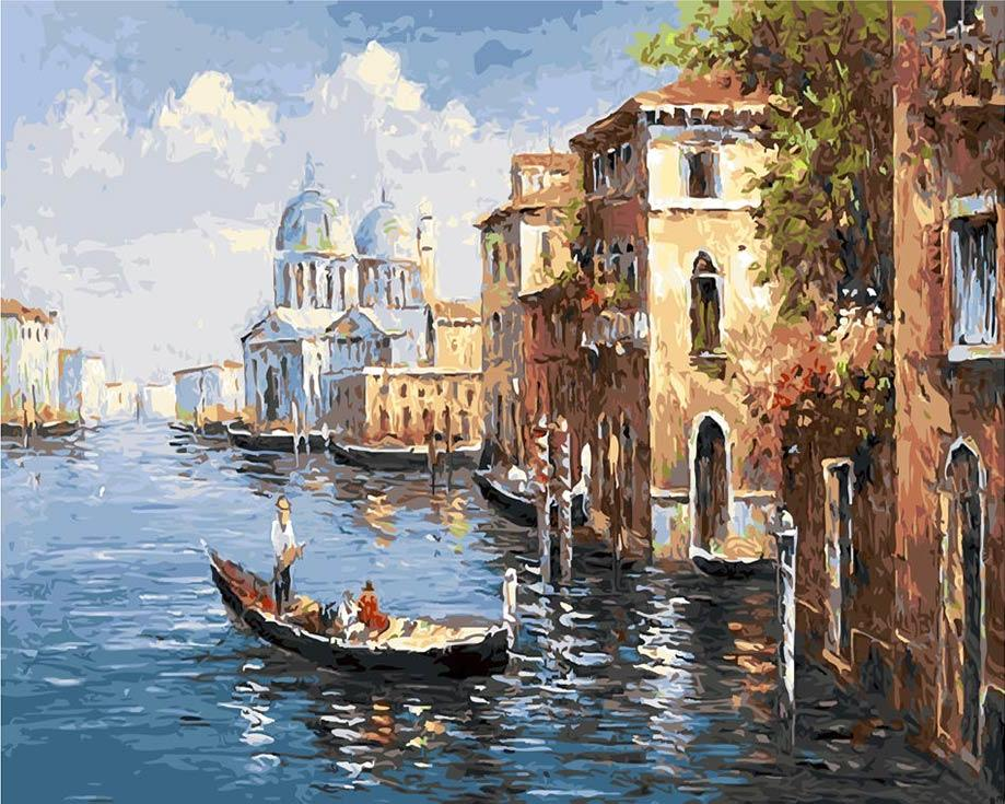 «Венеция»Paintboy (Premium)<br><br><br>Артикул: GX8606<br>Основа: Холст<br>Сложность: средние<br>Размер: 40x50 см<br>Количество цветов: 28<br>Техника рисования: Без смешивания красок