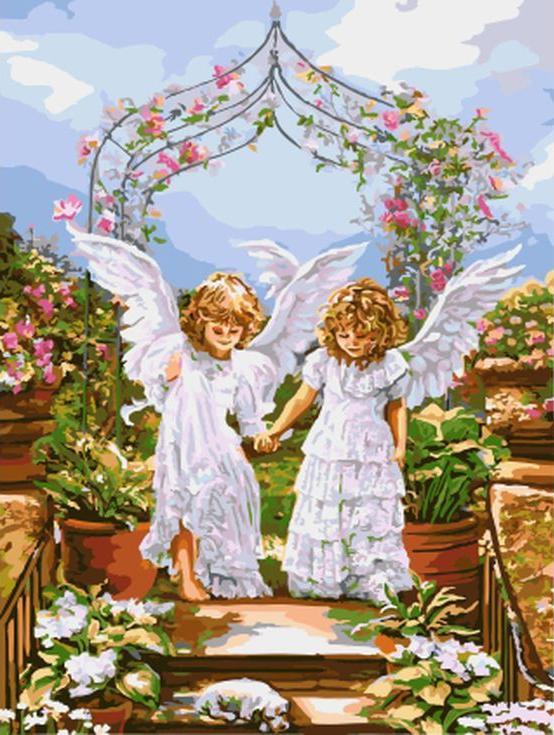 Картина по номерам «Друзья-ангелы»Paintboy (Premium)<br><br><br>Артикул: GX8966<br>Основа: Холст<br>Сложность: сложные<br>Размер: 40x50 см<br>Количество цветов: 29<br>Техника рисования: Без смешивания красок